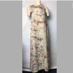 Citron Santa Monica Blush Silk Maxi Dress M Flawed